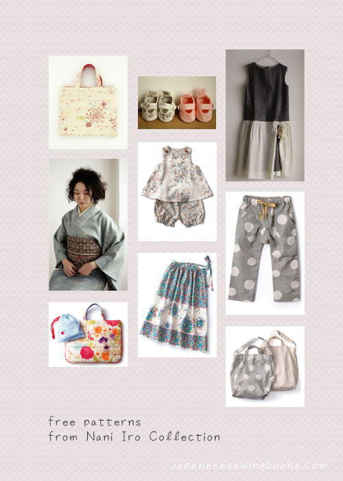 Projects from Nani Iro free sewing patterns