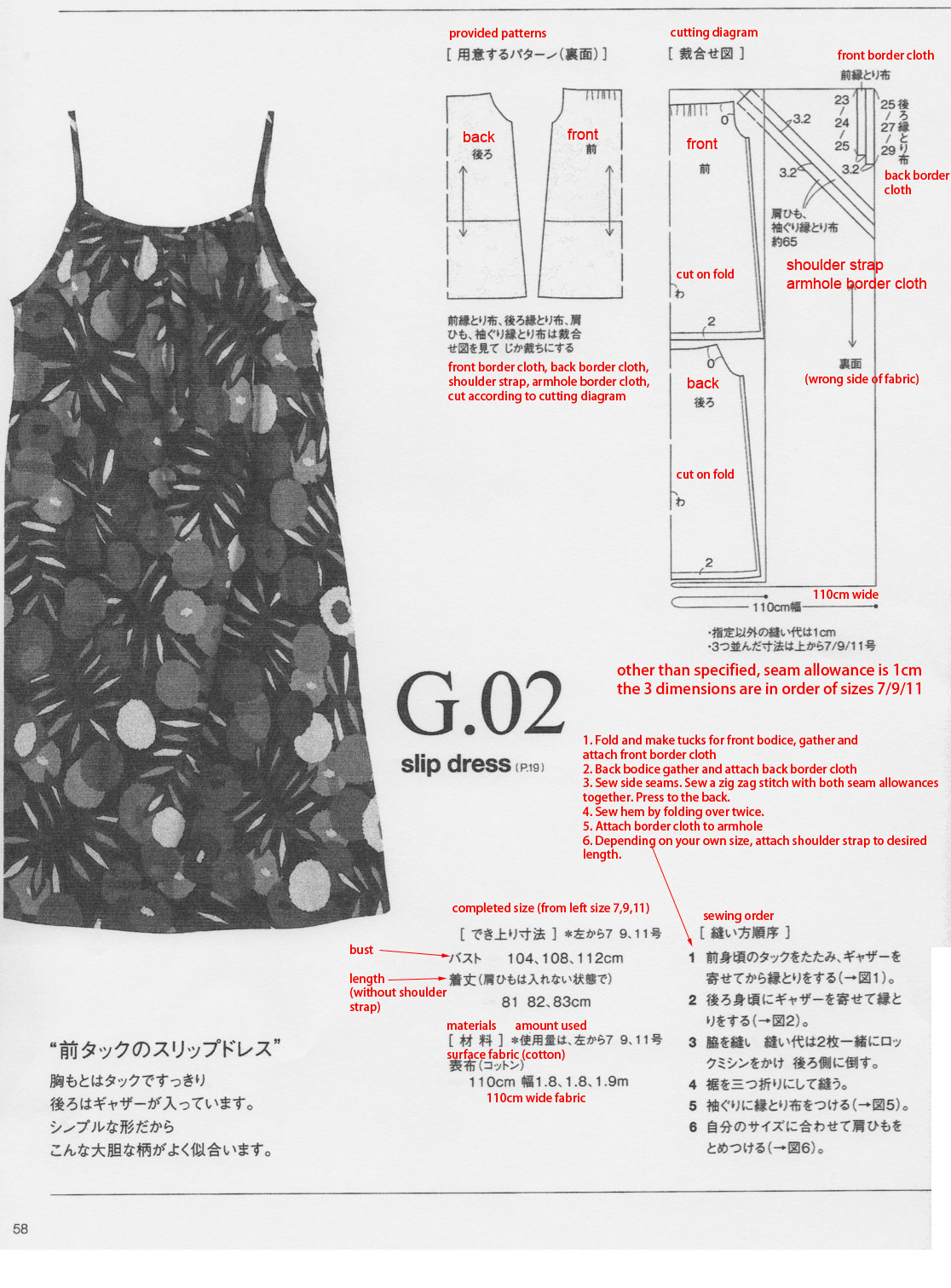 translating japanese sewing pattern | Japanese Sewing, Pattern ...