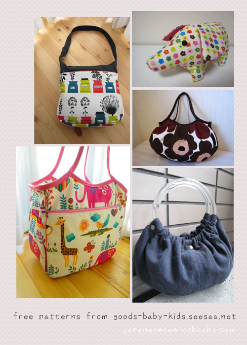 Free Patterns For Bags : Free Japanese Sewing Patterns - Maternity and Kids goods Japanese ...