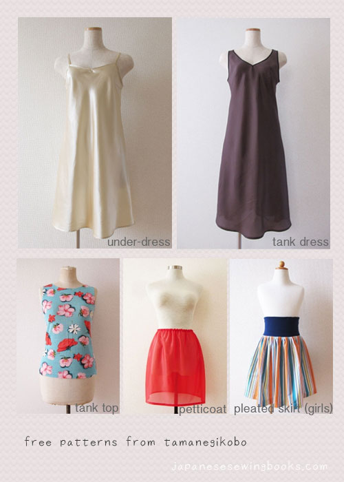 Free Japanese Sewing Pattern Tamanegi Kobo Japanese Sewing Cool Free Dress Patterns For Women