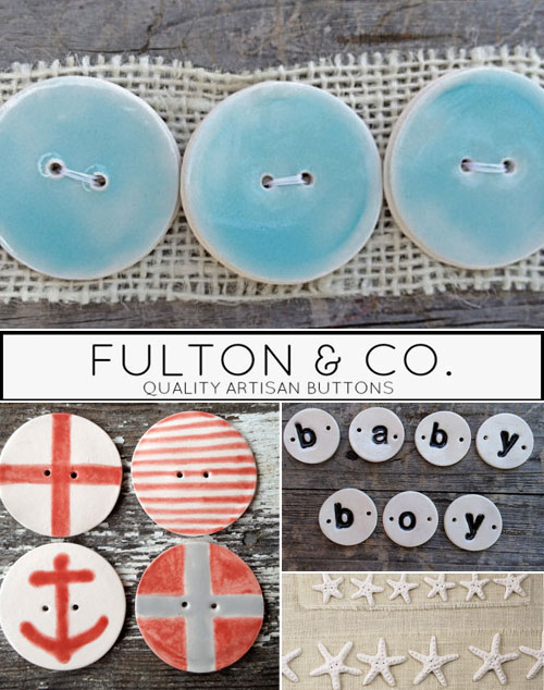 Handmade Buttons Giveaway from FULTON & CO  – Japanese Sewing