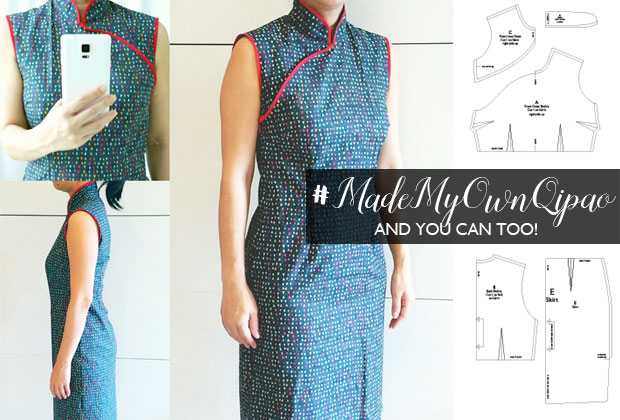 Making adjustments to your Ladies Qipao / Cheongsam / Chinese Dress Free Pattern